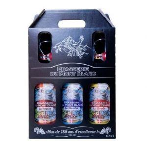 Mont Blanc Coffret bières (Rousse - Blanche - Blonde) 3x - 75 cl -