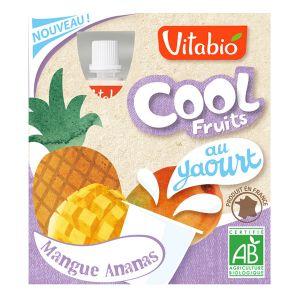 Vitabio Cool Fruits au yaourt - 4 compotes Bio mangue / ananas
