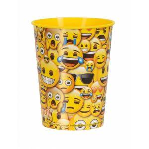 Verre en plastique smiley Emoji Taille Unique