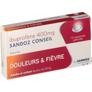 Sandoz Ibuprofène 400 mg - 15 Comprimés