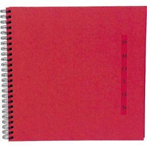Exacompta 16925E - Album photos Design 32x32 cm, 60p. noires/360 photos, reliure à spirales, rouge