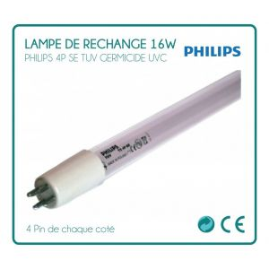 Desineo Lampe de rechange 16W Philips pour stérilisateur UV