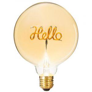 """Atmosphera Ampoule Décorative à Filament """"Hello"""" 17cm Ambre"""