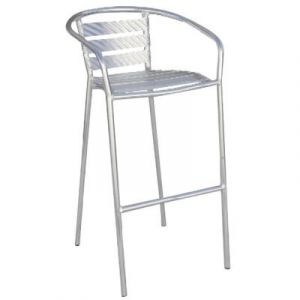 Pegane Chaise de bar en aluminium- A USAGE PROFESSIONNEL - Dim : H 100 x L 53 x P 52 cm