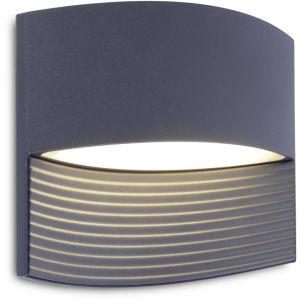 Lutec Applique murale LED extérieure Lotus 5193201118 LED intégrée gris