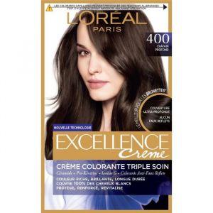 L'Oréal Crème colorante triple soin 400 châtain profond