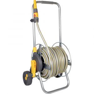 Hozelock Dévidoir de tuyau de jardin sur roues 2436R3535 30 m gris, jaune