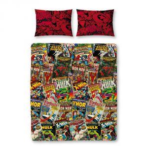 Character World Marvel Comics - Housse de couette et taies (200 x 200 cm)