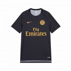 Nike PSG M NK Dry SQD Top SS GX 2 T- T-Shirt Homme, Noir Black/Truly Gold 011, FR : S (Taille Fabricant : S)