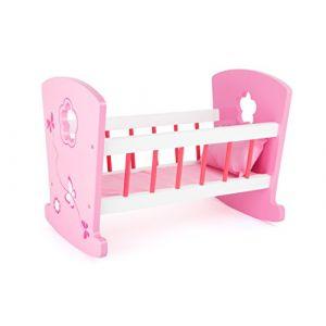 Legler Berceau de poupée rêve de fille rose/rose vif