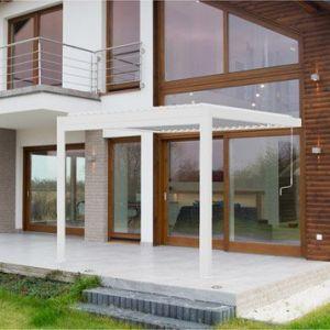 Pergola aluminium adossée 9 m² Cadix blanche