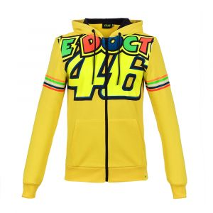 VR46 Sweat zip capuche Valentino Rossi Stripes jaune 2018 - S