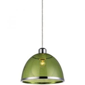 Globo Lighting GLOBO Suspension Nickel mat L23 x l23 x h120 cm - Vert - Suspension nickel mat - acrylique vert - A:230 - H:1200 - Ampoule non incluse - 1xE27 40W 230V