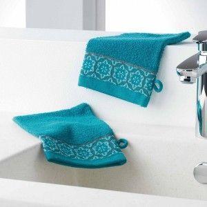 Lot de 2 gants de toilettes Adelie Bleu