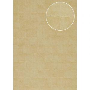 Atlas Papier peint aspect pierre carrelage INS-0805-4 papier peint texturé gaufré avec des figures géométriques satiné ivoire ivoire-clair blanc perlé 7,035 m2