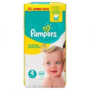 Pampers Premium Protection taille 4 Maxi Jumbo Pack 8-16 kg - 54 couches