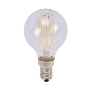 Perel Ampoule , filament led - boule - 5 w - e14 - blanc chaud -