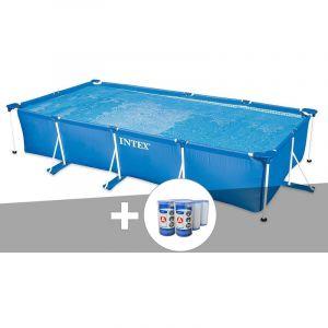 Intex Kit piscine tubulaire rectangulaire 4,50 x 2,20 x 0,84 m + 6 cartouches