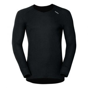 Odlo Warm T-Shirt à Manches Longues Homme, Noir, FR : L (Taille Fabricant : L)