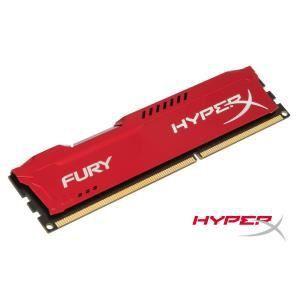 Kingston HX316C10F/8 - Barrette mémoire HyperX Fury 8 Go DDR3 1600 MHz CL10 DIMM 240 broches