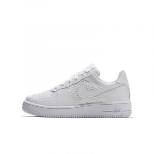 Nike Chaussure Air Force 1 Flyknit 2.0 pour Jeune enfant/Enfant plus âgé - Blanc - Taille 33 - Unisex