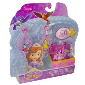 Giochi Preziosi Bijoux Princesse Sofia Bagues et boucles d'oreilles avec mini figurines château rose
