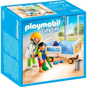 Playmobil 6661 City Life - Chambre d'enfant avec médecin