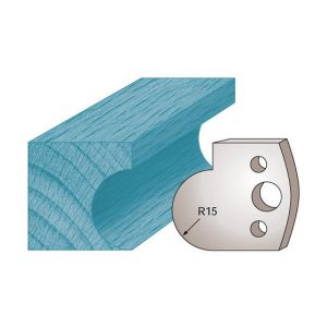 Diamwood Platinum Jeu de 2 fers profilés Ht. 40 x 4 mm gorge M65 pour porte-outils de toupie