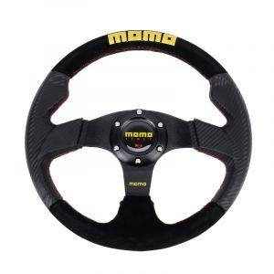 Momo 6 Boulons Voiture Modifiée Racing Sport Horn Bouton Volant, Diamètre: 32cm Neuf