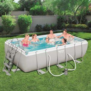 Bestway Ensemble de piscine rectangulaire Power Steel 56411