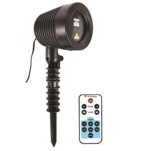Projecteur Laser de Noël d'extérieur + télécommande - 1000 points avec télécommande - Résiste à L'eau - Projection entre 20 et 25m - 9 jeux de lumieres differents.