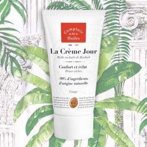 Comptoir des Huiles La Crème Jour Visage - Confort et éclat peaux sèches - 50 ml