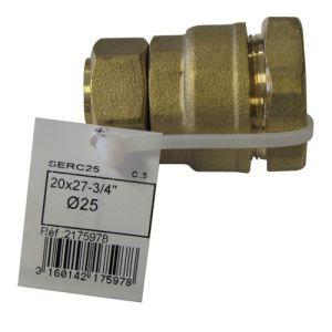 Boutté 2175978 - Raccord compteur droit femelle Ø25mm 20x27mm