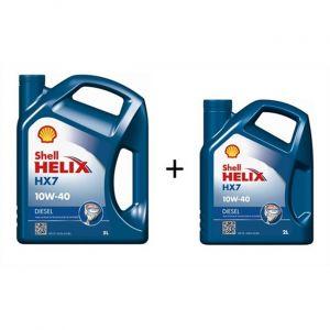 Shell Huile moteur Helix HX7 10W40 Diesel 5 L + 2 L