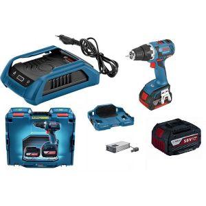 Bosch Pack perceuse-visseuse GSR 18V-EC 2X4.0Ah + Chargeur induction 0615990h61