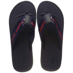 Tommy Jeans Tommy Hilfiger M - Tongs Homme, Noir