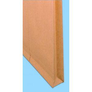 Clairefontaine 17442C - Boîte de 500 pochettes à soufflet Adhéclair kraft, adhésive avec bande, 90 g/m², 162x229x30