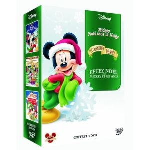 Coffret Mickey Noël 1 - Mickey, Noël sous la neige + Le calendrier de Noël + Fêter Noël avec Mickey et ses amis