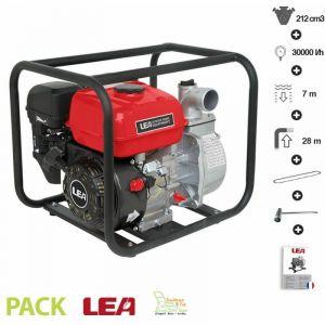 Lea Motopompe thermique évacuation eau irrigation 5,6Cv 212cm3 débit 30000 l/h LE71212-50 raccord 2 pouces