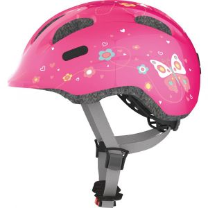 Abus Smiley 2.0 Casque Junior - Butterfly Rose 45-50 cm