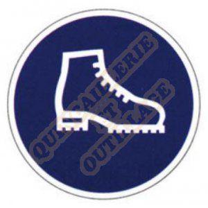 """Outifrance Panneau """"Chaussures de Sécu Obligatoire"""""""