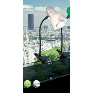 Globo Luminaire de table serre-fils bras flexible métal noir clair éclairage bureau