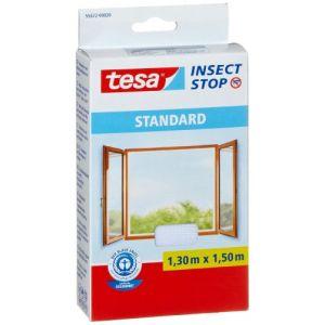 Tesa Moustiquaire Standard pour fenêtre 1,3 m x 1,5 mm Blanc