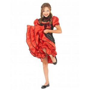 Espa Déguisement cabaret rouge et noir fille 8-10 ans (128 cm)