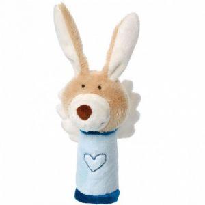 Sigikid Hochet lapin ange gardien bleu (13 cm)
