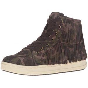 Geox J Aveup F, Sneakers Hautes Fille, Grün (OLIVEC3005), 33 EU