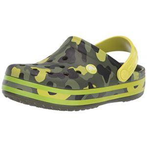 Crocs Crocband Multigraphic Clog, Sabots Mixte Enfant, Vert (Citrus) 33/34 EU