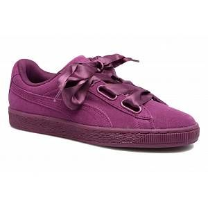 Puma Suede Heart Satin II, Sneakers Basses Femme, Violet (Dark Purple-Dark Purple), 40 EU