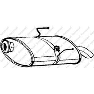 Bosal Silencieux arrière 190-343