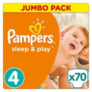 Pampers Sleep & Play taille 4 - Jumbo Pack 70 couches